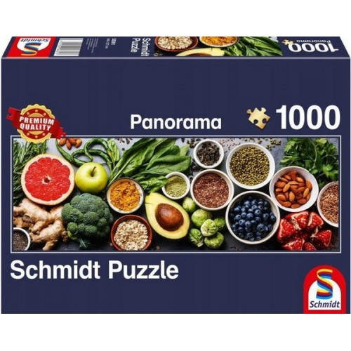 On the kitchen table, Schmidt panorama puzzle, 1000 pcs