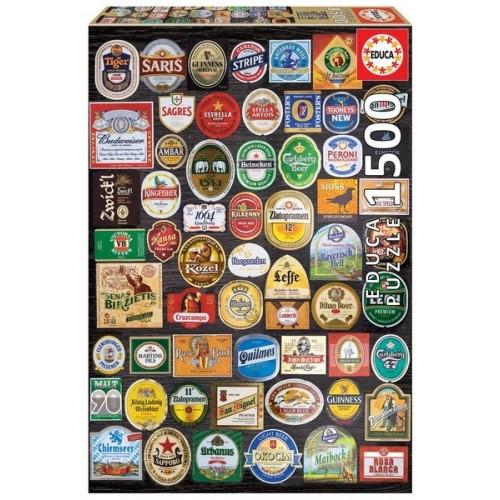 Sörösüveg címkegyűjtemény, 1500 darabos Educa puzzle