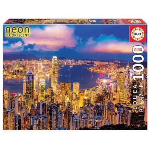 Hong Kong skyline, Educa Neon Puzzle 1000 pcs
