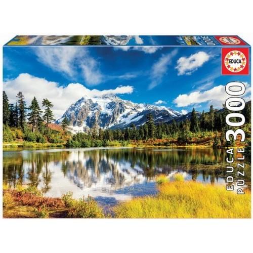 Mount Shuksan - Washington - USA, 3000 darabos Educa puzzle