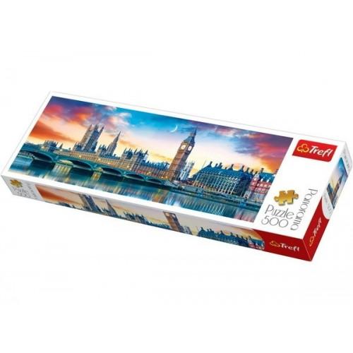 Big Ben és a Westminster-palota, 500 darabos Trefl panoráma puzzle