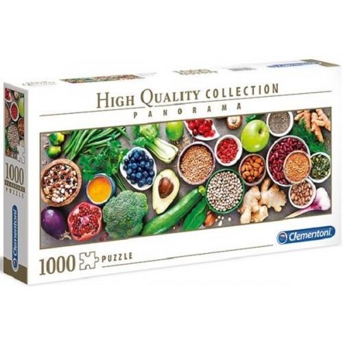 Vegetáriánus konyhapult, 1000 darabos Clementoni panoráma puzzle