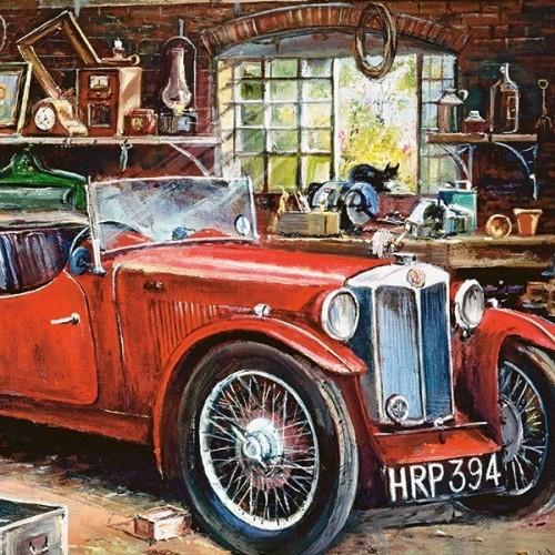 Vintage garázs, 1000 darabos Castorland Puzzle