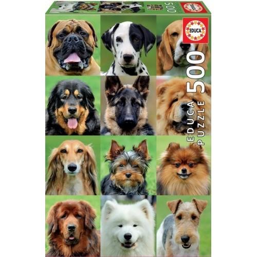 Dogs Collage, Educa Puzzle 500 pcs