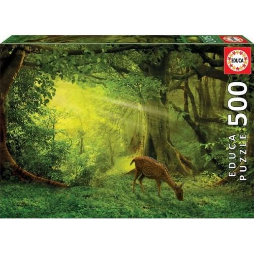Őzike az erdő mélyén, 500 darabos Educa puzzle