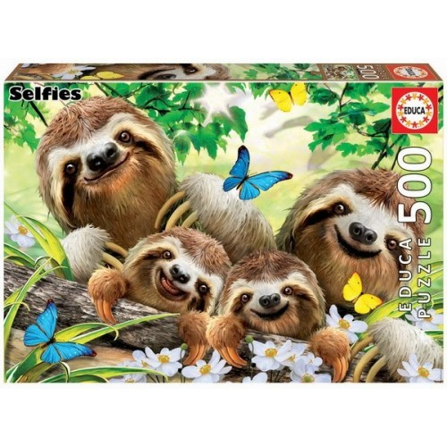 Sloth family Selfie, Educa Puzzle 500 pcs