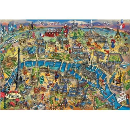 Paris Map, Educa Puzzle 500 pcs