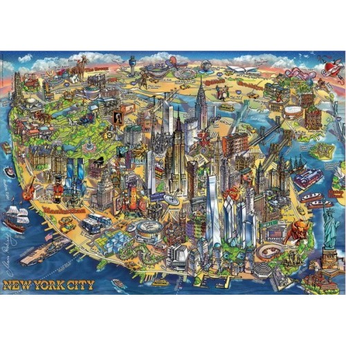 New York City Map, Educa Puzzle 500 pcs