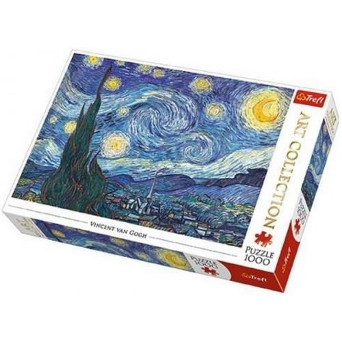 Csillagos éjszaka - Van Gogh, 1000 darabos Trefl puzzle