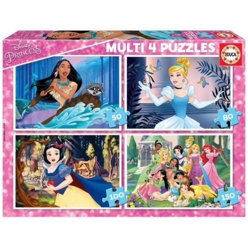 Disney Hercegnők, Educa Progresszív Puzzle 50-150 db