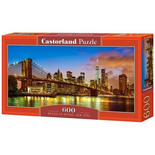 Brooklyn Bridge - New York, Castorland panoramic puzzle 600 pcs