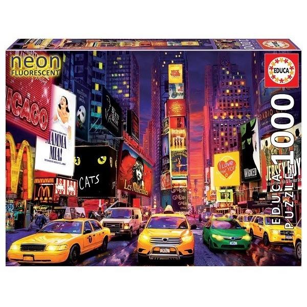 Times Square - New York, 1000 darabos Educa Neon puzzle