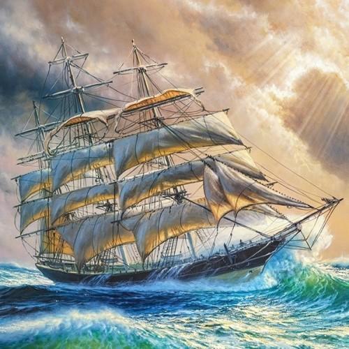 Vitorlázás a viharban, Castorland Puzzle 1000 db