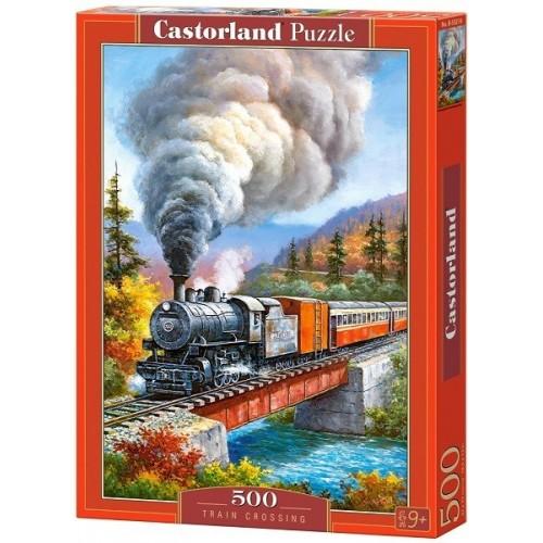 Gőzös a hídon, 500 darabos Castorland puzzle