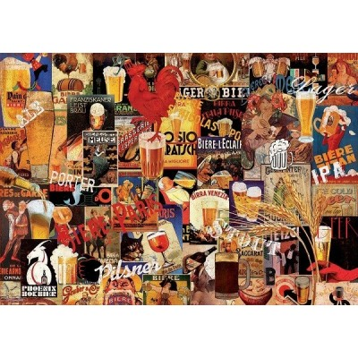 Régi sör plakátok, 1000 darabos Educa puzzle