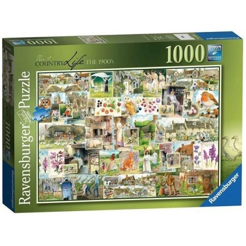 Az élet vidéken - Kollázs, 1000 darabos Ravensburger puzzle