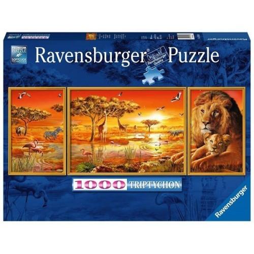 African Majesty - triptychon, Ravensburger Puzzle 1000 pc