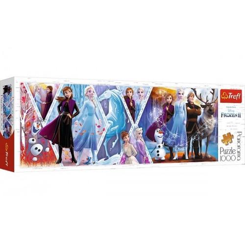 Frozen 2, Trefl panorama Puzzle, 1000 pcs