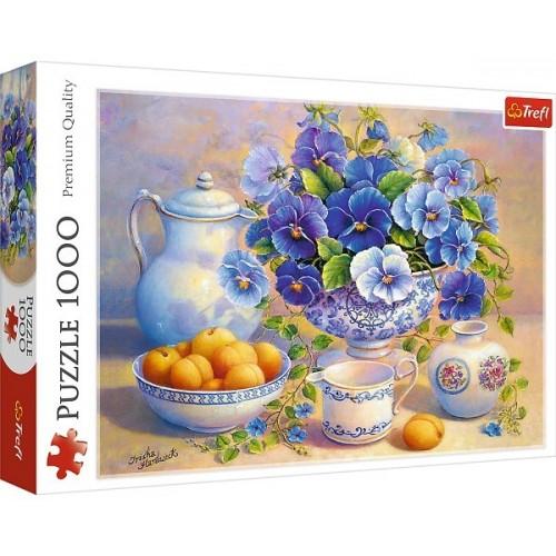 Kék csokor - csendélet, 1000 darabos Trefl puzzle