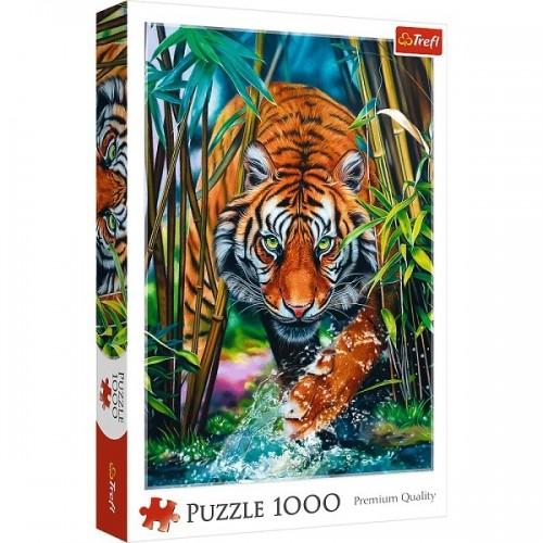 Grasping Tiger, Trefl puzzle, 1000pcs