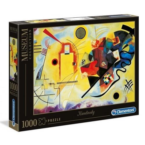 Sárga-Vörös-Kék - Kandinsky, Clementoni 1000 darabos puzzle