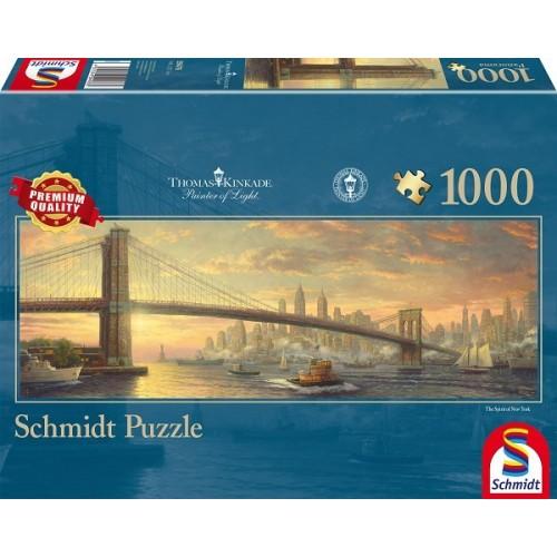 Brooklyn Bridge, Schmidt panorama puzzle, 1000 pcs