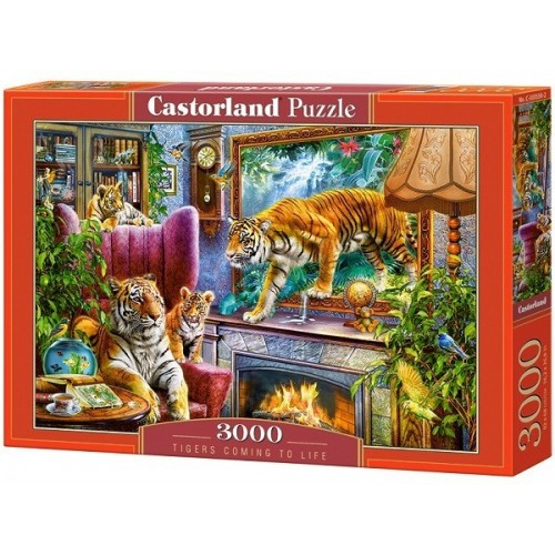 Tigers Coming to Life, Castorland puzzle 3000 pc