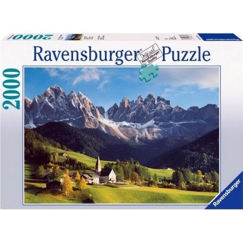Olasz táj a Dolomitokkal, Ravensburger puzzle 2000 db