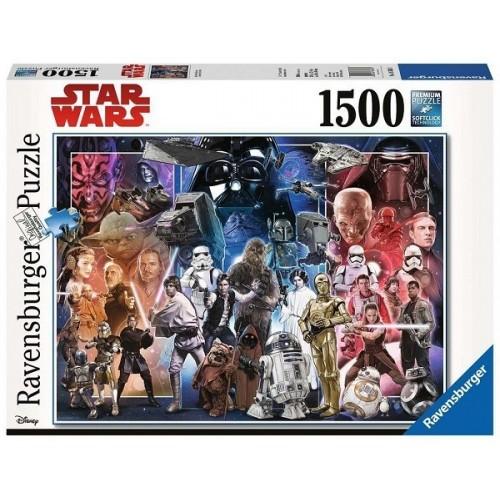 Star Wars montázs, 1500 darabos Ravensburger puzzle