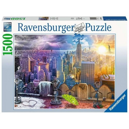 Télen-Nyáron-New York, 1500 darabos Ravensburger puzzle