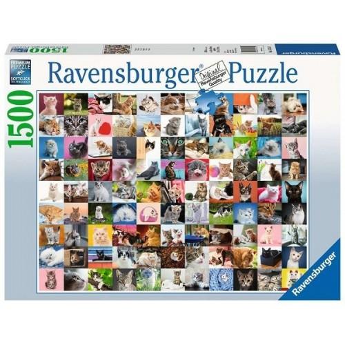 99 cica, 1500 darabos Ravensburger puzzle