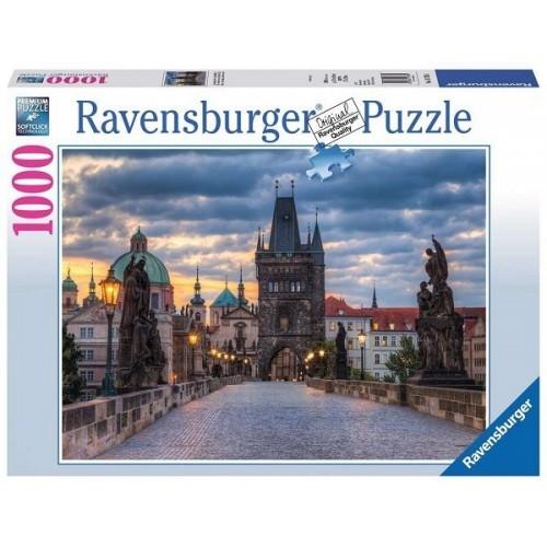 Séta a Károly hídon - Prága, 1000 darabos Ravensburger puzzle