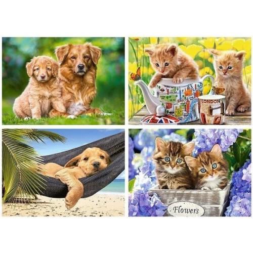 Our Pets, Castorland puzzle 4x120pc