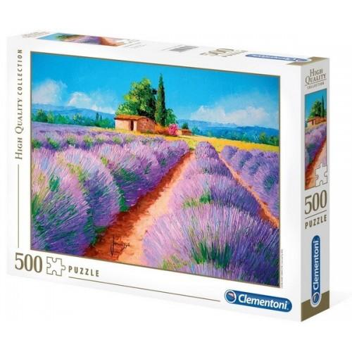 Lavender scent, Clementoni puzzle, 500 pcs