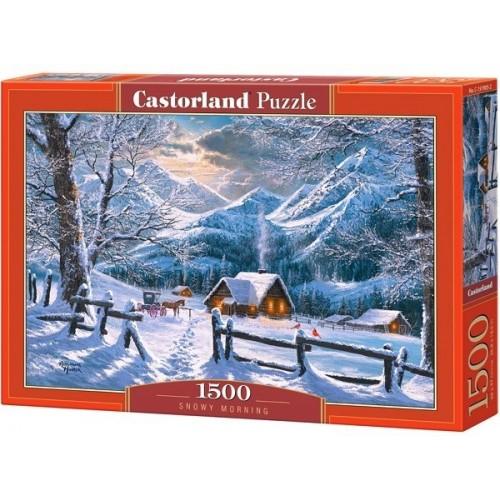 Havas reggel, 1500 darabos Castorland puzzle