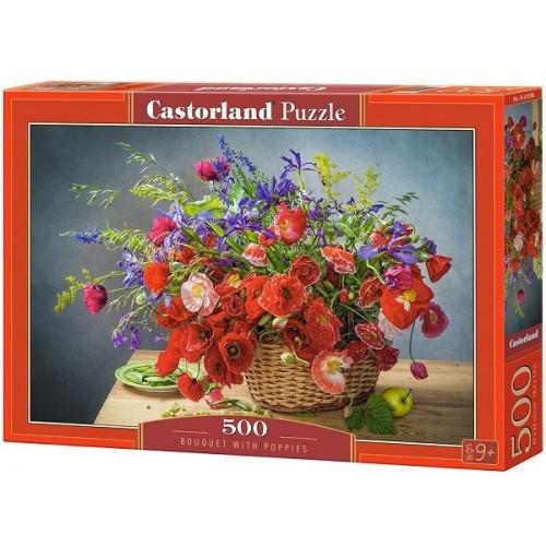 Bouquet With Poppies, Castorland Puzzle 500 pcs