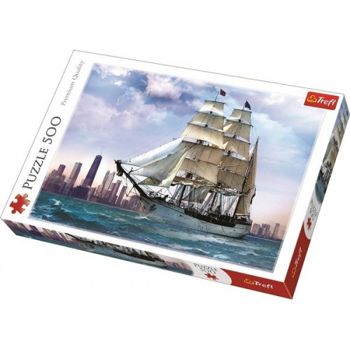Sailing against the Chicago, Trefl puzzle, 500 pcs