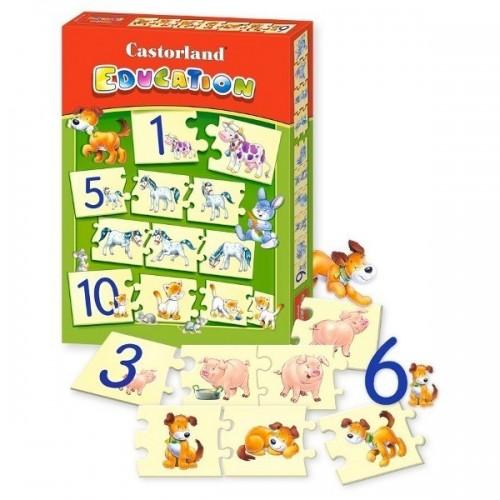 Állatok - Maxi puzzle, 73 darabos Castorland számolós puzzle