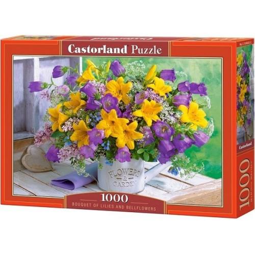Liliom és harangvirág, 1000 darabos Castorland Puzzle