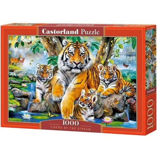 Tigers by the Stream, Castorland Puzzle 1000 pc