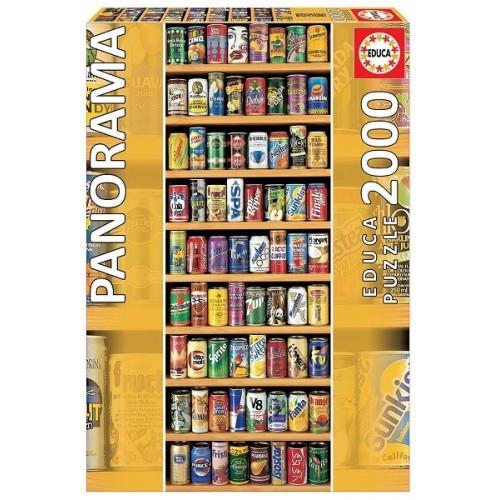 Üdítősdobozok, Educa Panorama Puzzle 2000 db