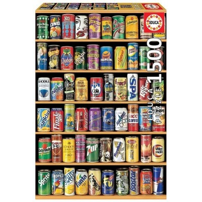 Soft drink Cans, Educa Puzzle 1500 pc