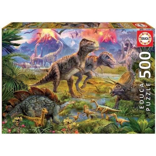 Dinoszaurusz találkozó, Educa Puzzle 500 darabos képkirakó