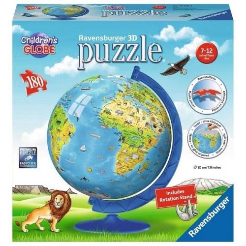 Állatos földgömb, Ravensburger 180 darabos 3D puzzle