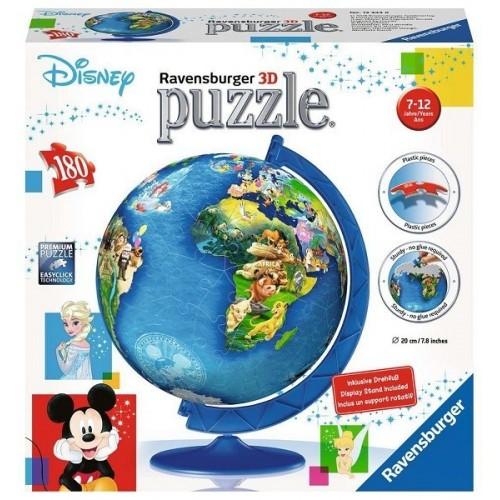 Disney földgömb, Ravensburger 180 darabos 3D puzzle