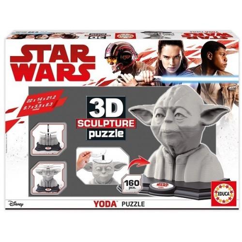 Star Wars - Yoda,  Educa 160 darabos 3D puzzle szobor