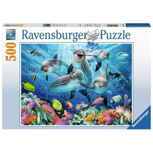 Dolphins in the coral reef, Ravensburger Puzzle 500 pc