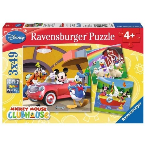 Mickey Mouse Clubhouse, Ravensburger Puzzle 3X49 pcs puzzle