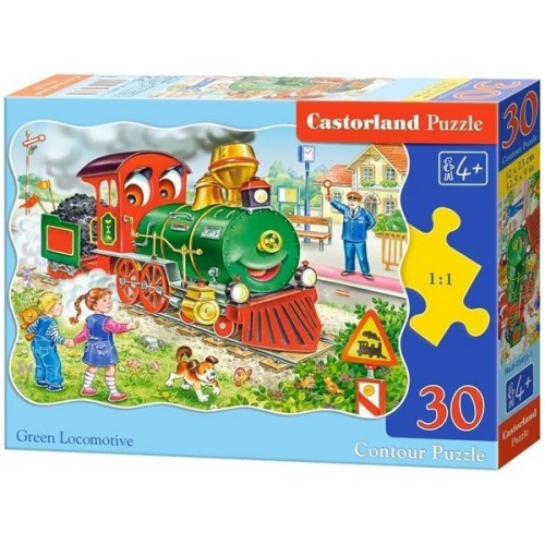 Green Locomotive, Castorland Midi Puzzle 30pc