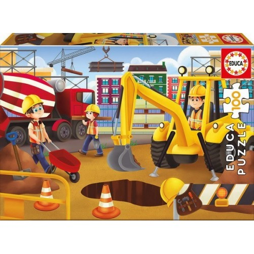 Road construction, Educa puzzle 100 pc